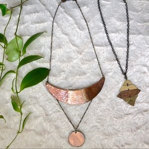 Copper Necklace set of two / local and handmade!